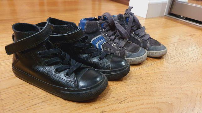 Buty sneakersy skóra Geox Converse