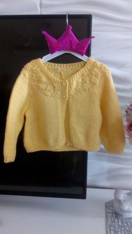 Musztardowy miodowy sweterek 68