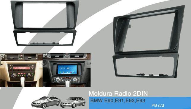 Aro/Moldura Radio 2DIN NOVO p/BMW E90,E91,E92,E93