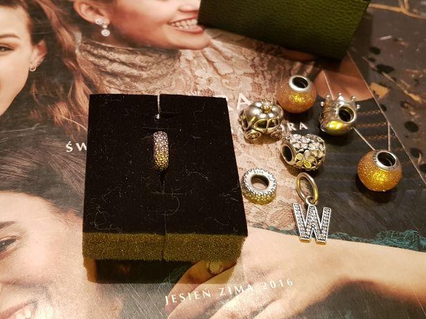 Pandora charms Inspiracja Pave srebro różowa