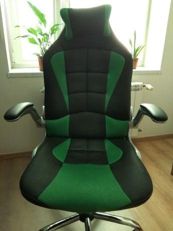 Fotel biurowy CALVIANO Sport czarno-zielony