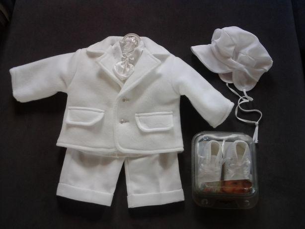 Ubranko, strój, komplet do chrztu dla chłopca r.68
