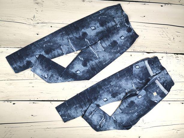 Legginsy, getry jeansowy wzór 86-164