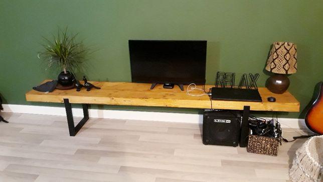 Konsola industrialna | pod telewizor | drewniana | boho