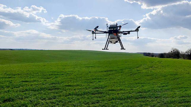 Внесення ЗЗР/добрив дронами,обприскування дроном, десикація агродроном