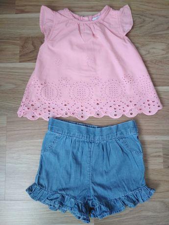 Літній костюмчик для дівчинки PRIMARK ( шорти + блузочка)