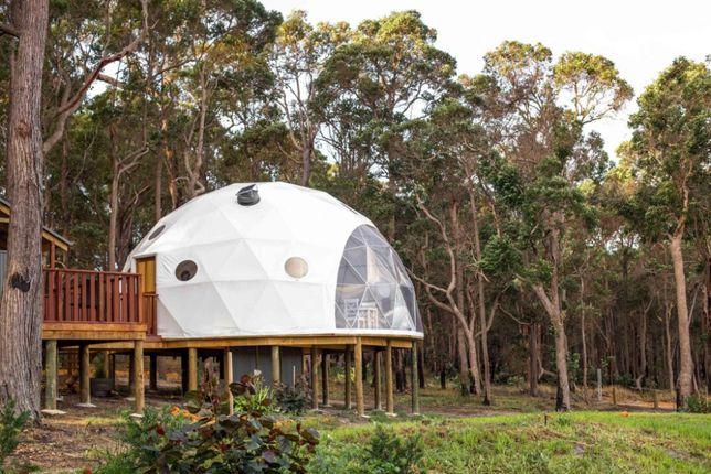 Ocieplane bardzo dobrze doposażone domki namioty SFERYCZNE
