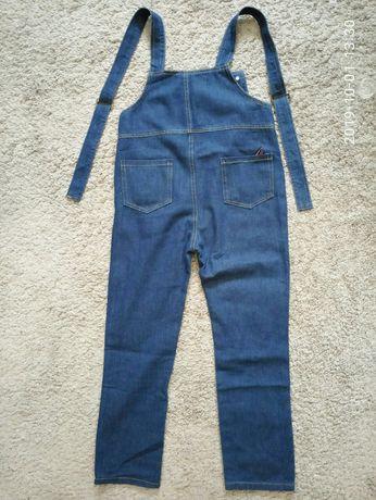 Детский джинсовый комбинезон для девочек 11-12 лет
