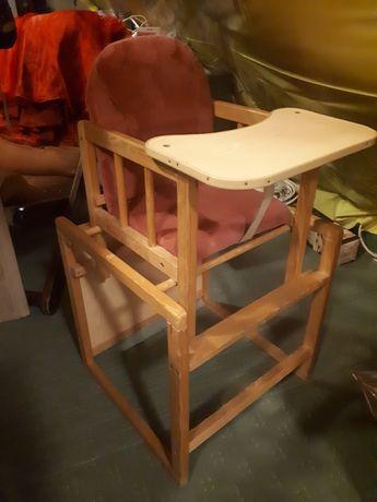 Fotelik ze stoliczkiem drewno