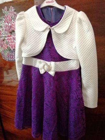 Красивое нарядное платье с пиджаком
