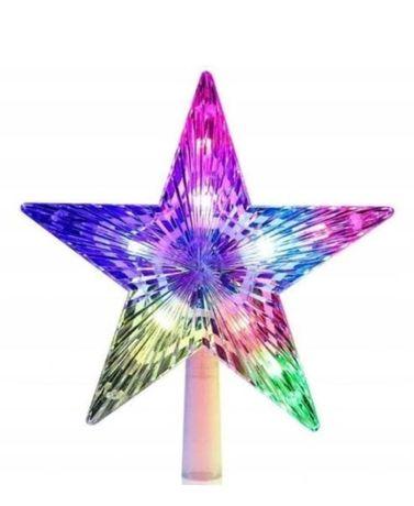 Gwiazda na szczyt choinki LED