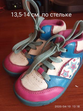 Фирменные ботинки Clarks на девочку