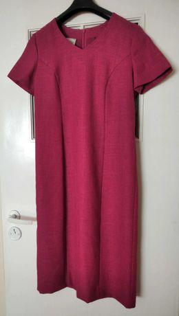 Bordowa/fuksjowa sukienka M/L, st. idealny