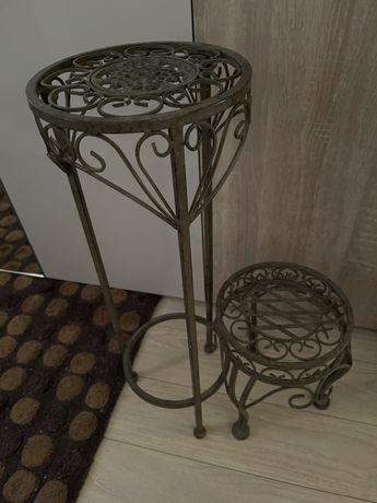 Столики, подставки для декора и цветов металл набор