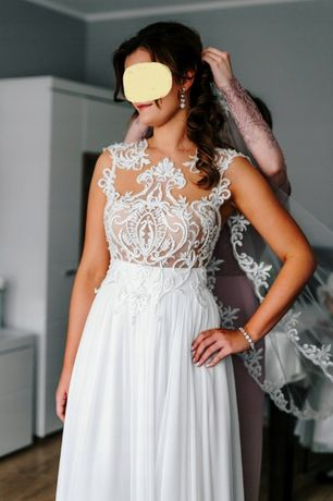 Suknia ślubna salon Madonna, Secret Angel model IBIZA roz. 38