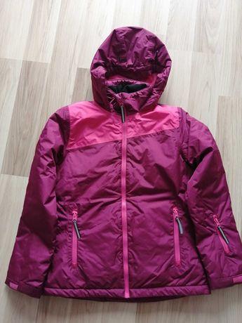 Kurtka narciarska dziewczęca r. 152 fioletowy różowy