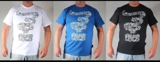 NOWA koszulka GRUBE LOLO Story biała niebieska czarna promocyjne ceny