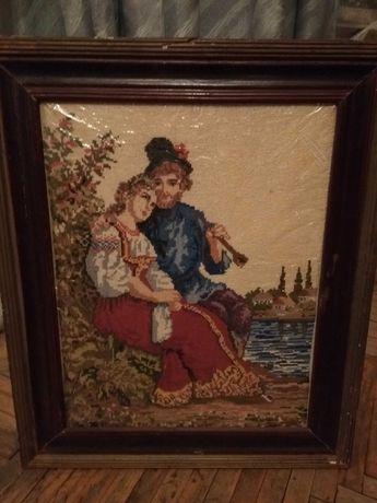Картина ручной работы вышивка
