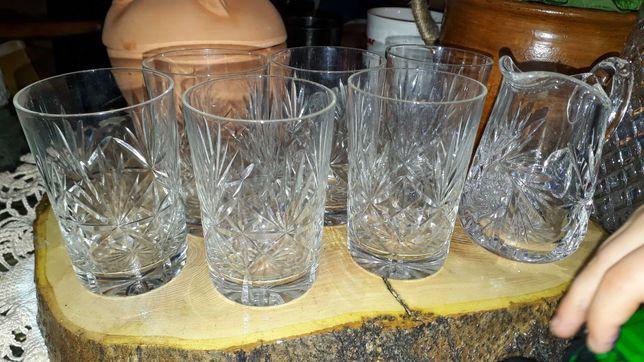 Szklanki 6sztuk literatki kryształ jak nowe kryształowe szklaneczki