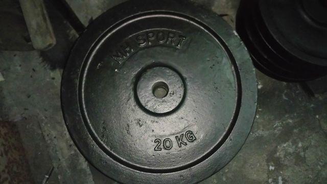 Siłownia obciążenie żeliwne 20 kg fi 31