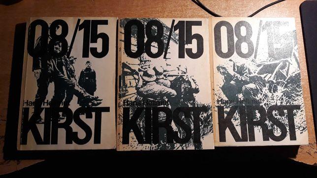 Książki Kirst 08/15 Tomy I-II-III, Hans Hellmut