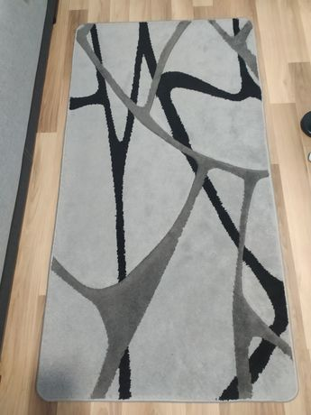 Dywan 80 x 150 szaro-czarny