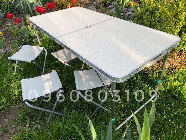 ⫸ 5 із 5 ЯКІСТЬ! Стіл + 4 стільця. Раскладной стол для пикника столик