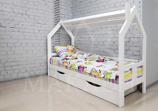 Дерев'яне ліжко-будиночок  80 на 190