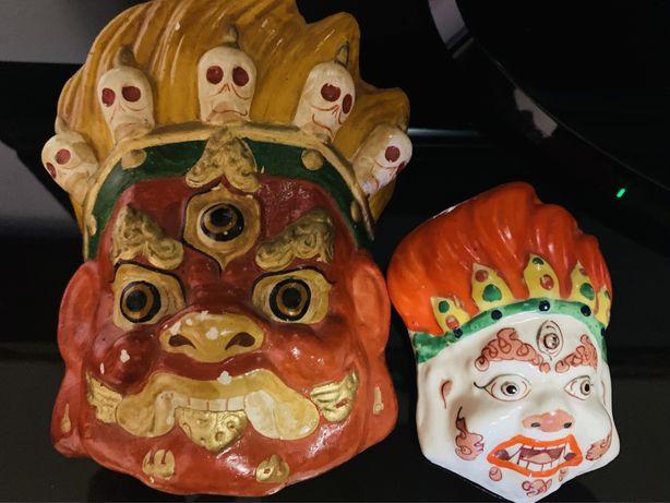 Антикварные монгольские маски, антиквариат
