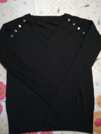 Blusa de tecido fininho e casaquinho fresco