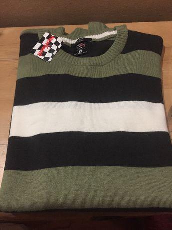 Мужской классический свитер 100% котон размер М New Yorker