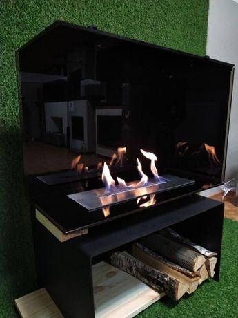 Биокамин встраиваемый безрамочный дизайн интерьера камин живой огонь