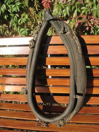 Stare oryginalne skórzano-metalowe chomąto od konia