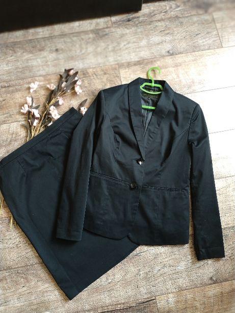 Черный деловой базовый костюм юбка и блейзер от Bonprix новый-42р