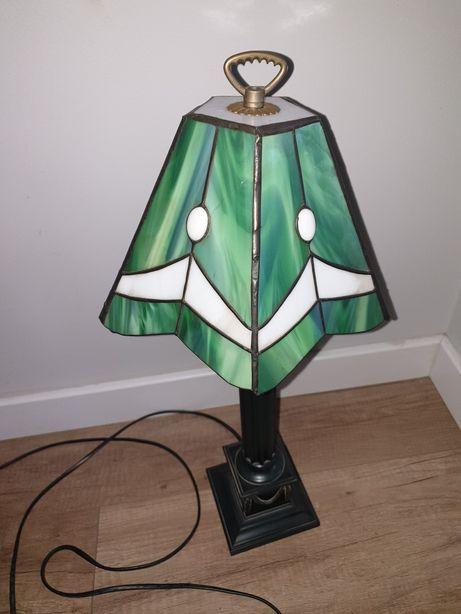 Lampa biurowa witrażowa green