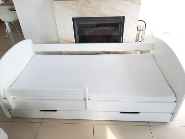 łóżko 190x90 materac+barierka+szuflada