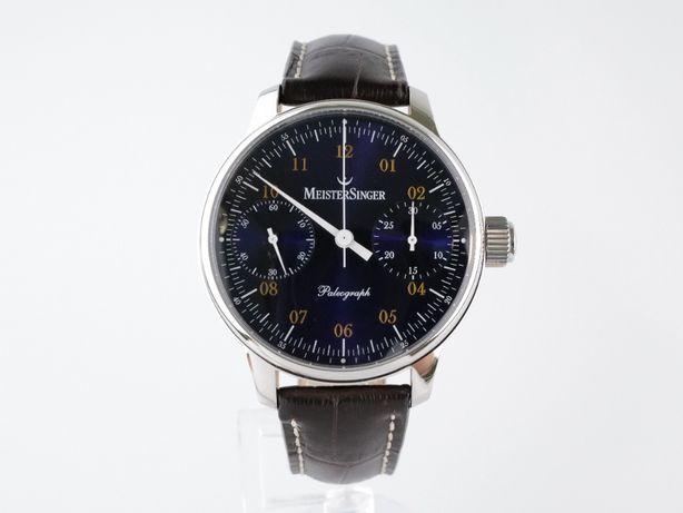 Мужские новые часы MeisterSinger Paleograph Blue Chronograph 43 мм