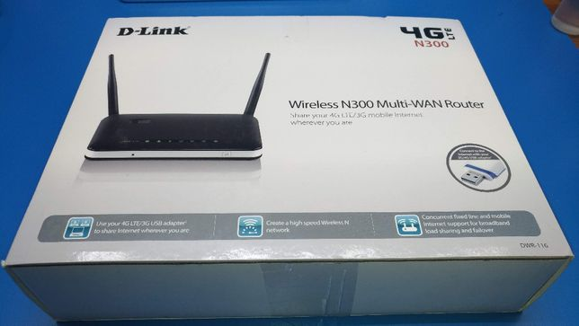 Router wireless 4g LTE D-Link DWR-116 Multi-WAN p/ redundância OPENWRT