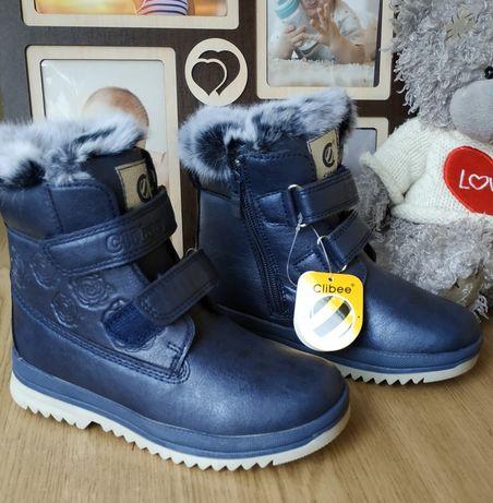 Ботинки зимние Clibee на девочку черевики зимові 26 27 28 29 30 31 р