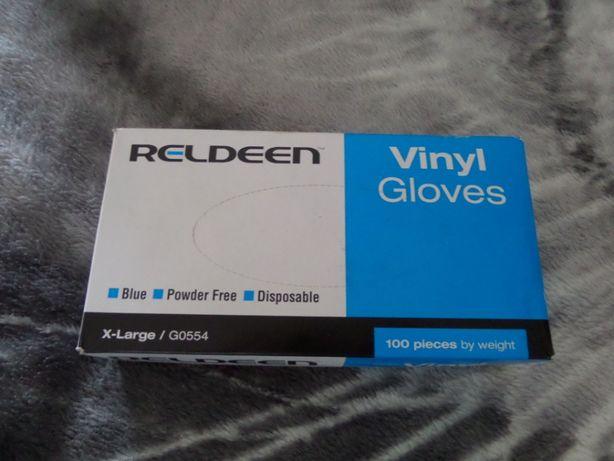 Rękawiczki Ochronne Jednorazowe RELDEEN L/XL 100 szt mega jakosc NEW