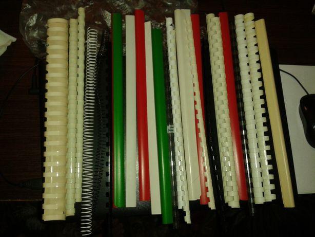 Argolas de Encadernação, Plástico e metal, várias cores, 30 unidades