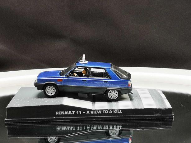 """Lindo Diorama Renault 11 Taxi """"A View to a Kill"""" James Bond 007  1/43"""