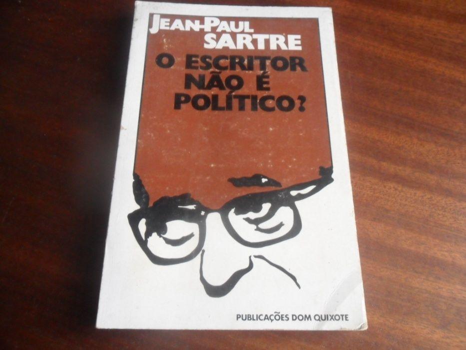 """""""O Escritor não é Político?"""" de Jean-Paul Sartre - 1ª Edição de 1971 Carcavelos E Parede - imagem 1"""