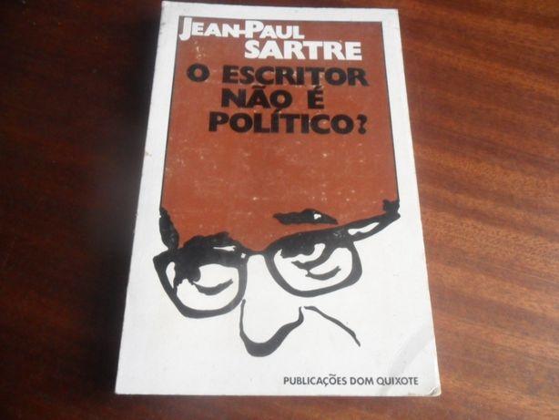 """""""O Escritor não é Político?"""" de Jean-Paul Sartre - 1ª Edição de 1971"""