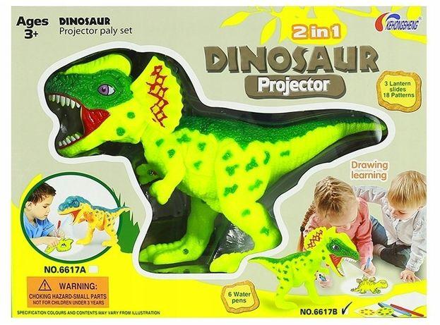 Projektor dinozaur dla dzieci slajdy do rysowania
