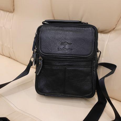 Мужская классическая кожаная сумка