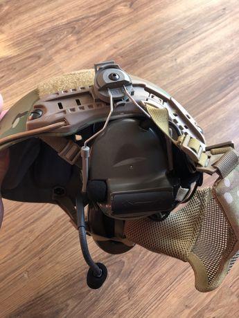 ASG Hełm FMA multicam+ stalker + słuchawki comtac 2 z tactical