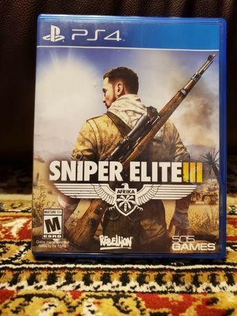 Игра диск Sniper Elite III 3 (Sony PS4, 2014) Снайпер Элит