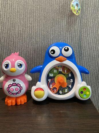 Интерактивная музыкальная игрушка, развивающие часы в фо