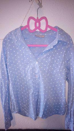 Błękitna koszula w gwiazdki 140